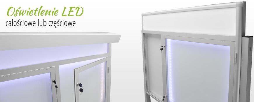 informacyjne gabloty i tablice - oświetlenie LED